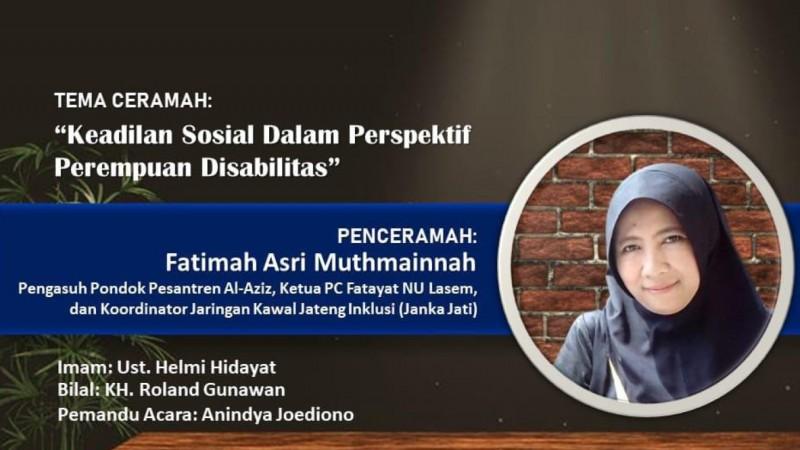 Ketua Fatayat NU Lasem Siap Isi Ceramah Usai Tarawih Virtual