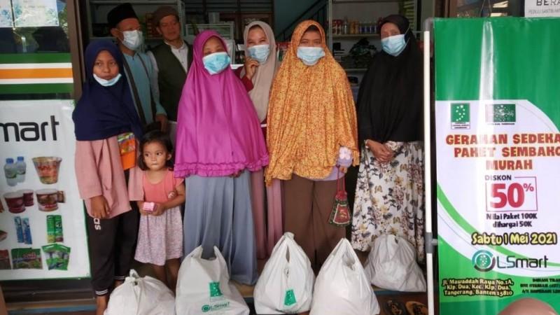 WarNU LSmart Tangerang Luncurkan Sedekah Sembako Murah