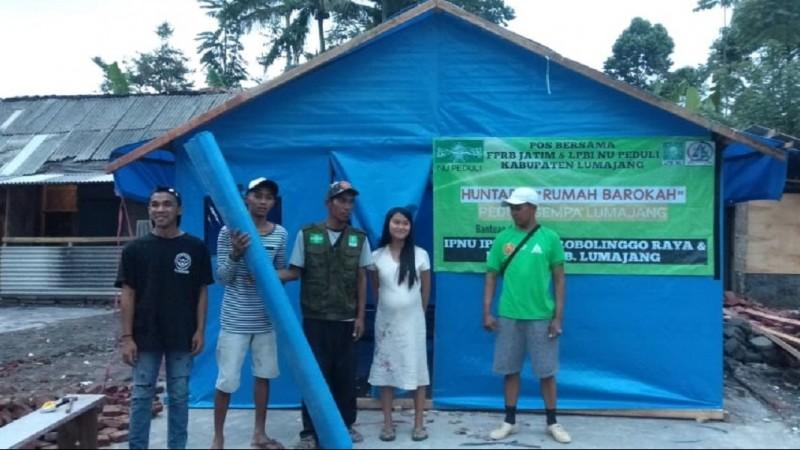 Peduli Korban Gempa, LPBINU Lumajang Bangun 18 Unit Huntara