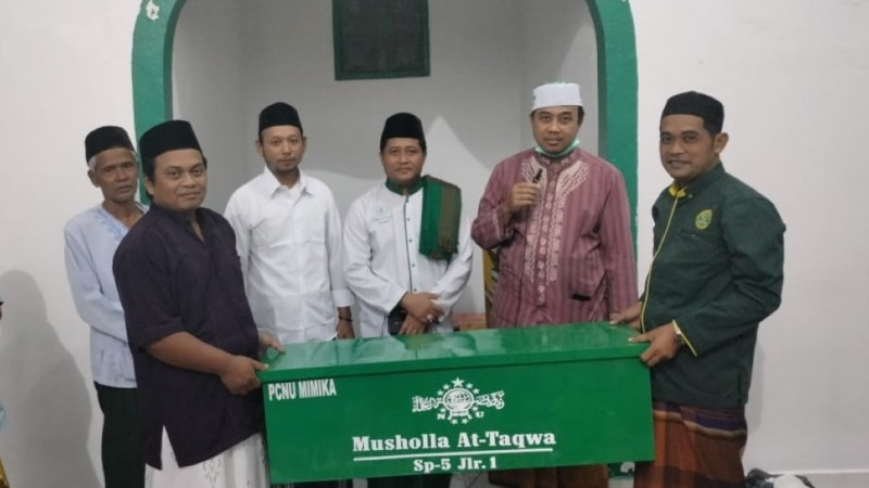 Cara Unik NU Mimika Sapa Sejumlah Masjid dengan Dampar