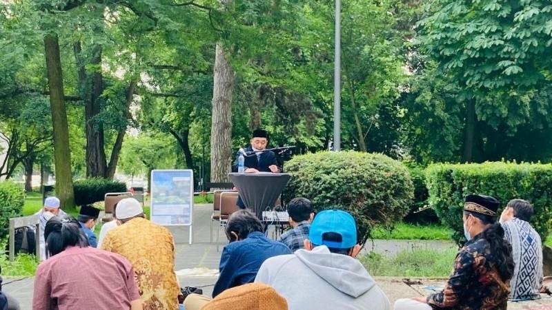 Saat Rais PCINU Mengisi Khutbah Idul Adha di Jerman