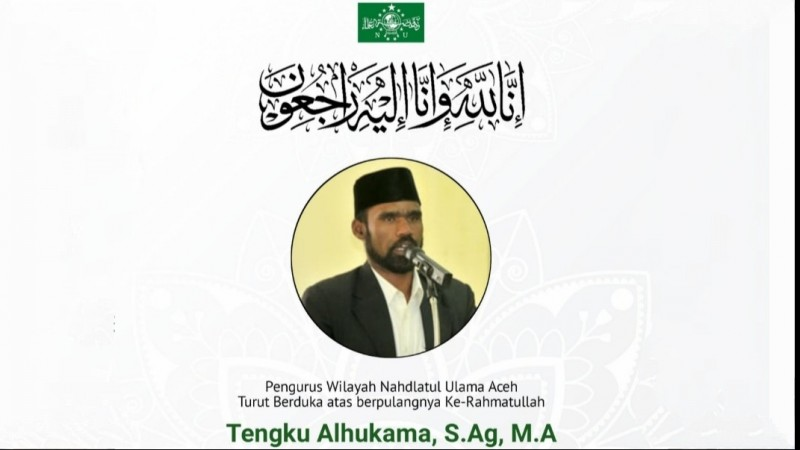 Ketua NU Bener Meriah, Tgk Alhukama Wafat