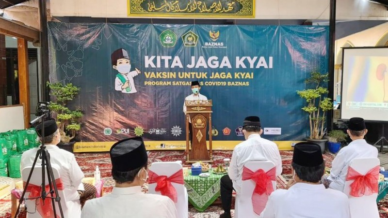 500 Santri Ikut Vaksinasi di Peluncuran Program 'Kita Jaga Kiai' di Semarang