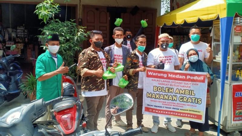 Ansor Kota Medan Distribusikan 1000 Paket Makanan Siap Saji