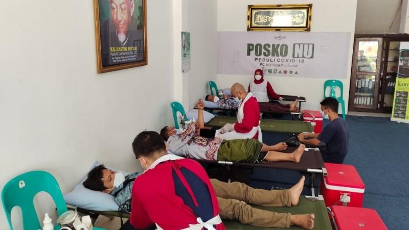 Jelang Konfercab, PCNU Kota Pontianak Giatkan Donor Darah