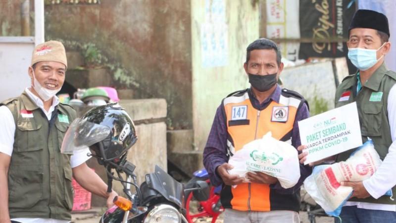 LAZISNU Kudus Kirim Ribuan Paket Bagi Warga Colo Terdampak Pandemi