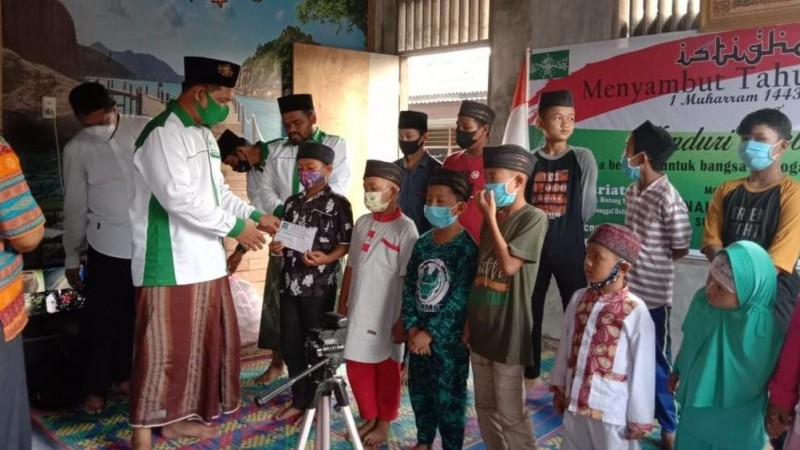 NU Sunggal Deli Serdang Sambut Tahun Baru Hijriah dengan Santuni Yatim dan Istighotsah