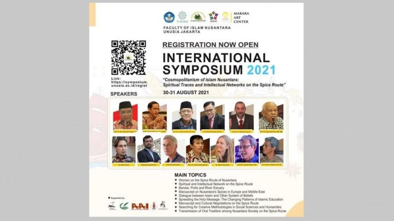 Fakultas Islam Nusantara Unusia Gelar Simposium Internasional Jalur Rempah