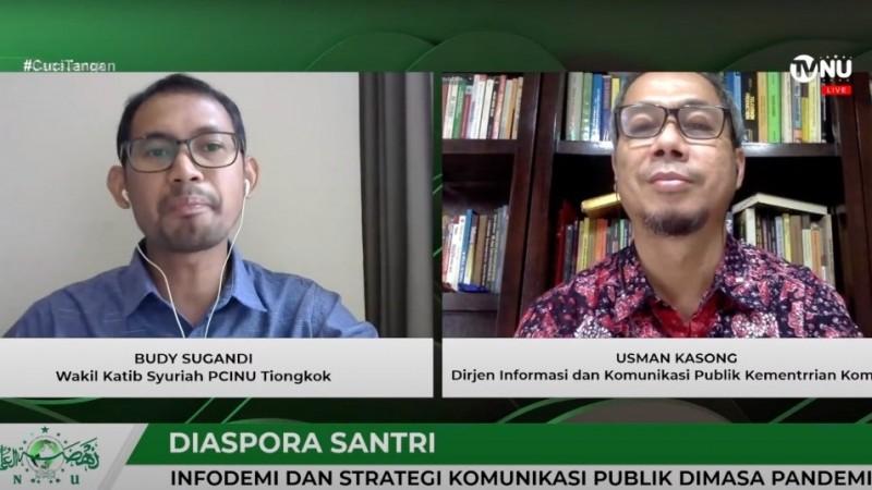 Diaspora Santri dan Kominfo Kolaborasi Lawan Hoaks Covid-19