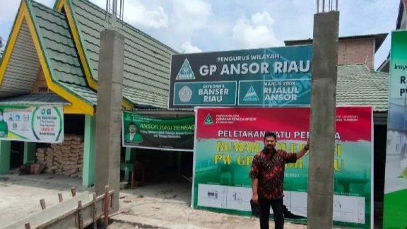 Wujudkan Rumah Toleransi GP Ansor Riau, Kapolda dan Paguyuban Masyarakat Sumbang 1 M