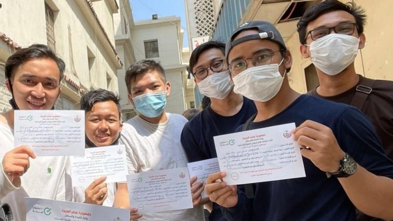 Rupa-Rupa Pengalaman Mahasiswa Al-Azhar Kairo Mesir Ikuti Vaksinasi