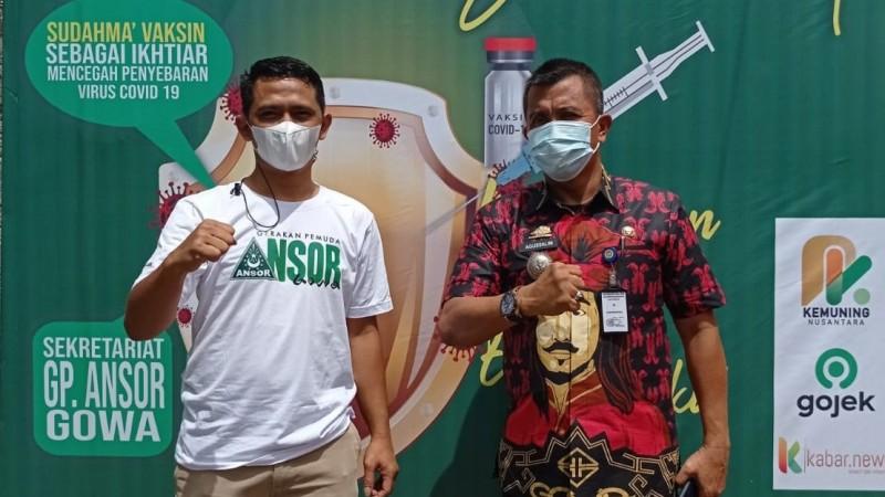 Ansor Gowa Turut Serta Sukseskan Vaksinasi Covid-19
