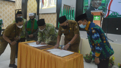 NU dan Pemkot Makassar Teken MoU Penguatan Iman