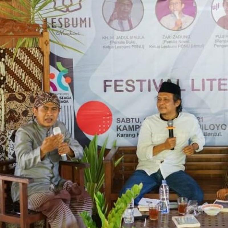 Lesbumi NU Bantul Bedah 'Islam Berkebudayaan' dan 'Cinta Itu Laduni'
