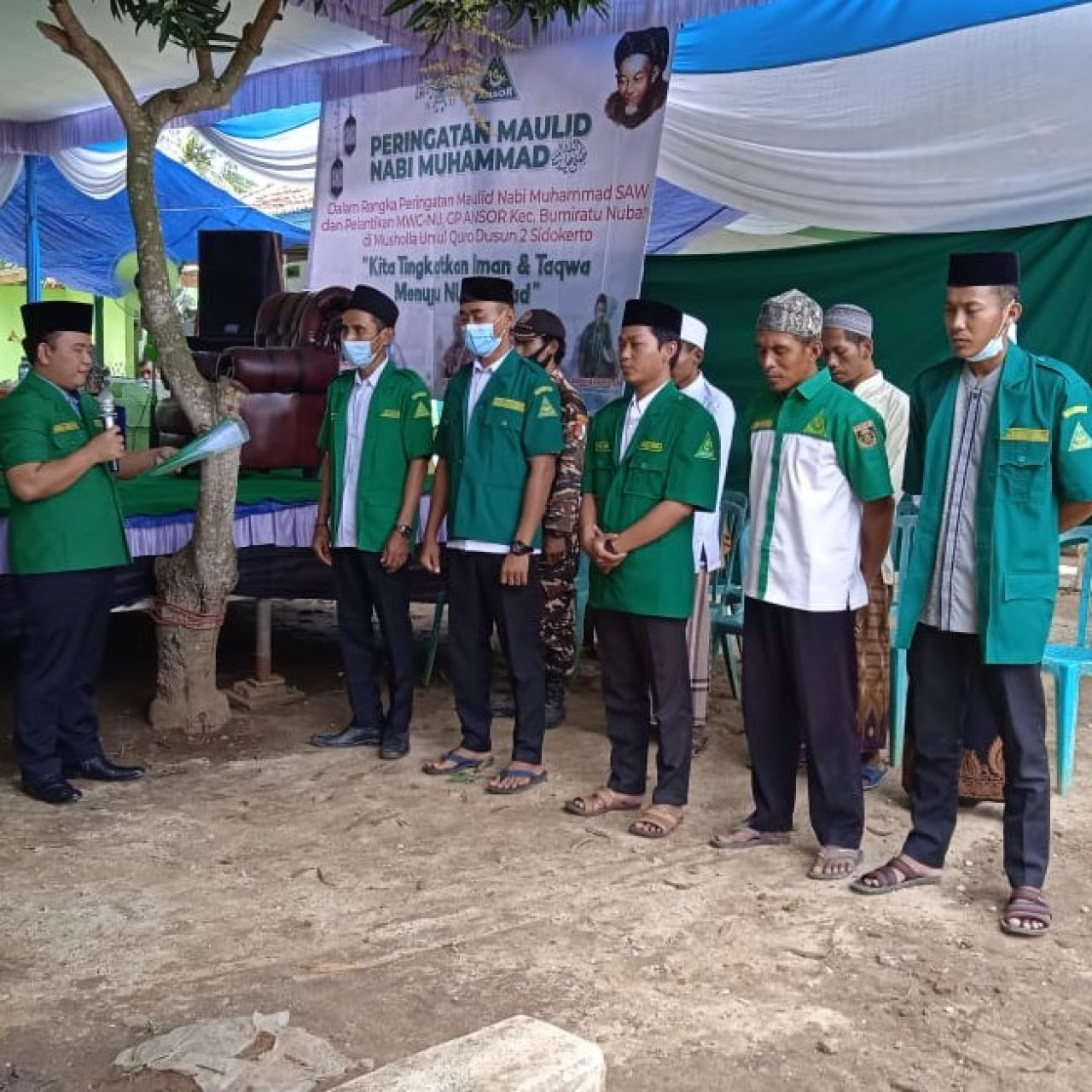 PAC GP Ansor Bumi Ratu Nuban Masa Khidmat 2021 – 2023 Resmi Dilantik