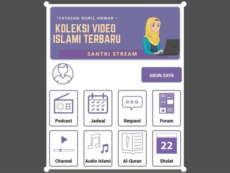 Aplikasi Santri Stream, Penghubung Pengajian Daring Antar-Pesantren