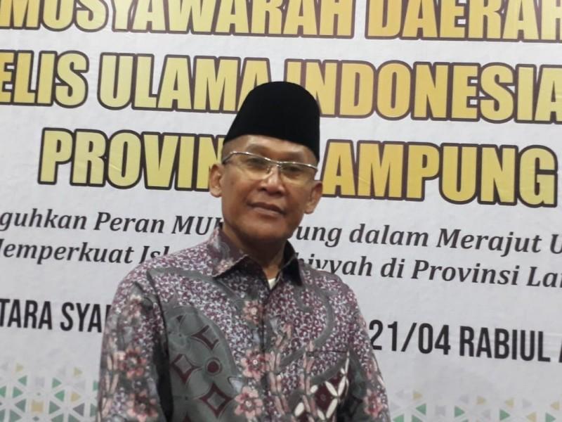 Prof Mukri Terpilih Menjadi Ketua Umum MUI Lampung Periode 2021-2026