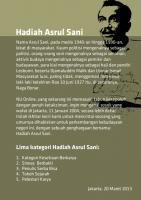 Pengumuman Hadiah Asrul Sani