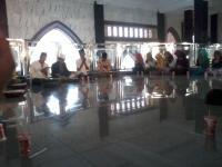 Teguhkan Tradisi NU, PMII Diba'an di Masjid Agung Jombang