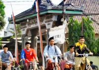 Hari Santri, PCNU Pekalongan Bersama Ribuan Santri-Pelajar Bersepeda Ria