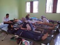 Mahasiswa dan Santri di Pati Ramai-ramai Donorkan Darah