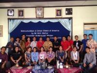 Belajar Keberagaman, Peserta Konferensi Pemuda Nusantara Kunjungi Pesantren
