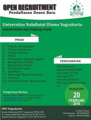 Buka Pendaftaran Dosen, UNU Yogyakarta Diserbu Ratusan Pelamar