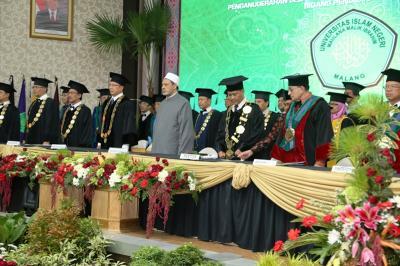 Grand Syekh Al-Azhar Terima Gelar Doctor Kehormatan dari UIN Malang