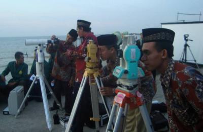 Lembaga Falakiyah PBNU Lakukan Pengamatan GMT di Bangka Belitung
