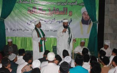 Cucu Syekh Abdul Qodir Al-Jilani Sambangi Pesantren Futuhiyyah Mranggen
