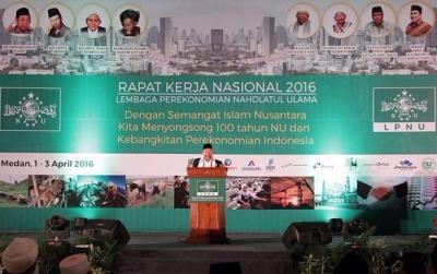 Rais Aam dan Ketum PBNU Resmi Buka Rakernas LPNU di Medan