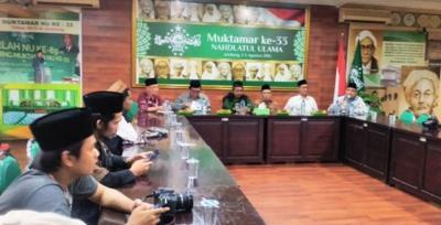 Dua Guru Besar UIN Sunan Ampel Terima Tim Ekspedisi di NU Jatim
