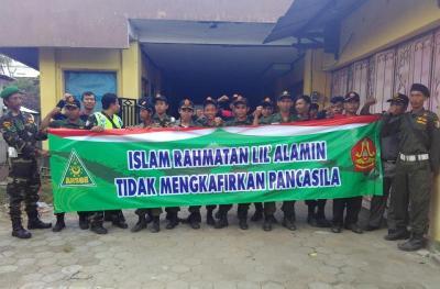 Sambut Propaganda HTI, Banser Rembang Gelar Aksi Damai Tandingan