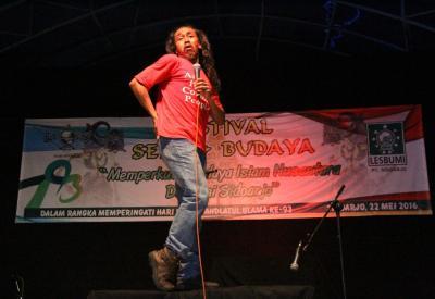 Para Seniman dan Pendekar Peringati Harlah Ke-93 NU di Sidoarjo