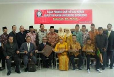 Kaji Perlawanan Warga Kendeng, Wakil Ketua PCNU Kudus Raih Doktor di Undip