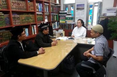 PCINU Korsel Silaturrahim ke Korean Muslim Federation