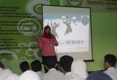 Siswa SMK Plus NU dan BNN Sidoarjo Diskusi Seputar Narkoba
