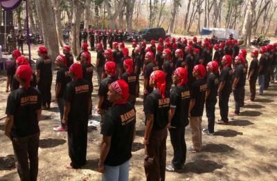Bersama TNI dan Polri, Banser Jaga Keamanan Pringsewu