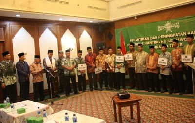 Pengurus Ranting NU se-Kecamatan Cipayung Dilantik di PBNU