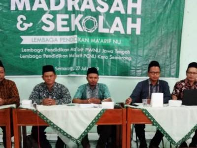 LP Ma'arif NU Kota Semarang Perbaiki Data Madrasah dan Sekolah