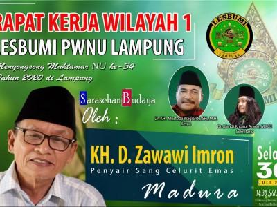 Sarasehan Budaya, Lesbumi NU Lampung Hadirkan Penyair D Zawawi Imron