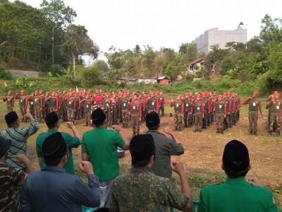 Seratus Banser Kabupaten Sukabumi Ikuti Susbalan Pertama