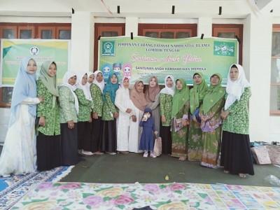 Fatayat NU Lombok Tengah Santuni 306 Anak Yatim di Hari Asyura'