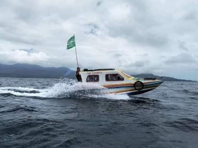 Arungi Lautan, NU Salurkan Bantuan ke Pulau Haruku di Maluku Tengah