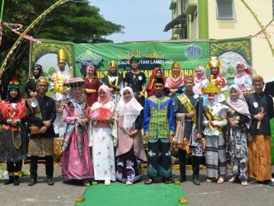 Meriahnya Shalawat Kebangsaan dan Pawai Budaya di UIN Lampung