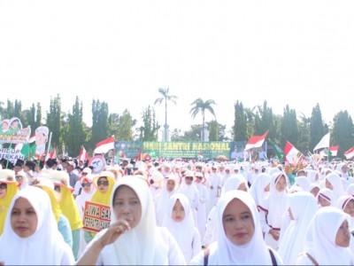 Lintas Iman Ikut Meriahkan Kirab Hari Santri di Jombang