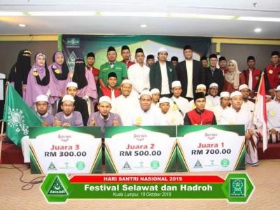 GP Ansor dan Fatayat Malaysia Peringati Hari Santri dengan Festival Shalawat