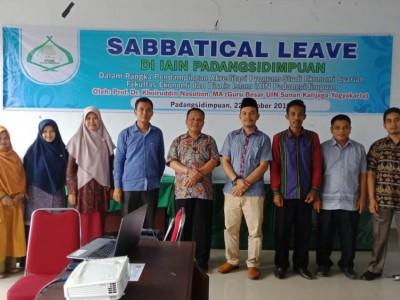 Sabbatical Leave 2019Upaya Ditjen Pendis Tingkatkan Mutu PTKI yang Langka Guru Besar