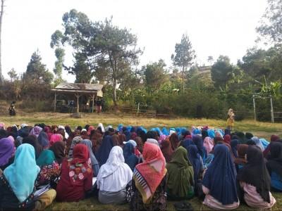 Kemah Pesantren Nurul Huda Diakhiri Deklarasi Santri Cibojong