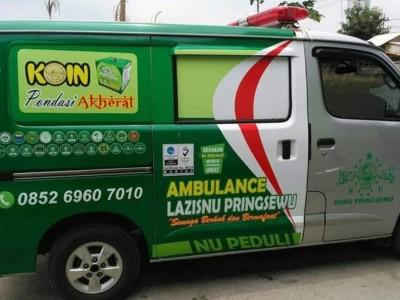 LAZISNU Pringsewu Topang Gerak Basada dengan Ambulans